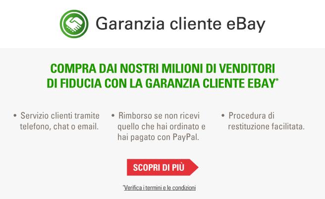 Compra dai nostri milioni di venditori di fiducia con la Garanzia cliente eBay.