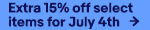 Extra 15% off select items for July 4th Get the coupon
