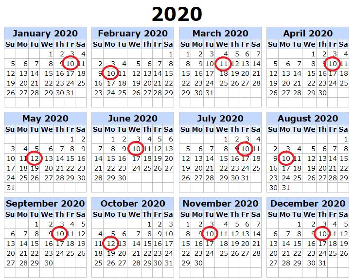 2020 Payment Calendar Ebay Partner Network