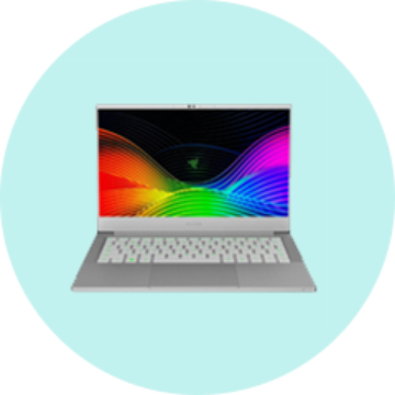 Doorway image of a silver laptop