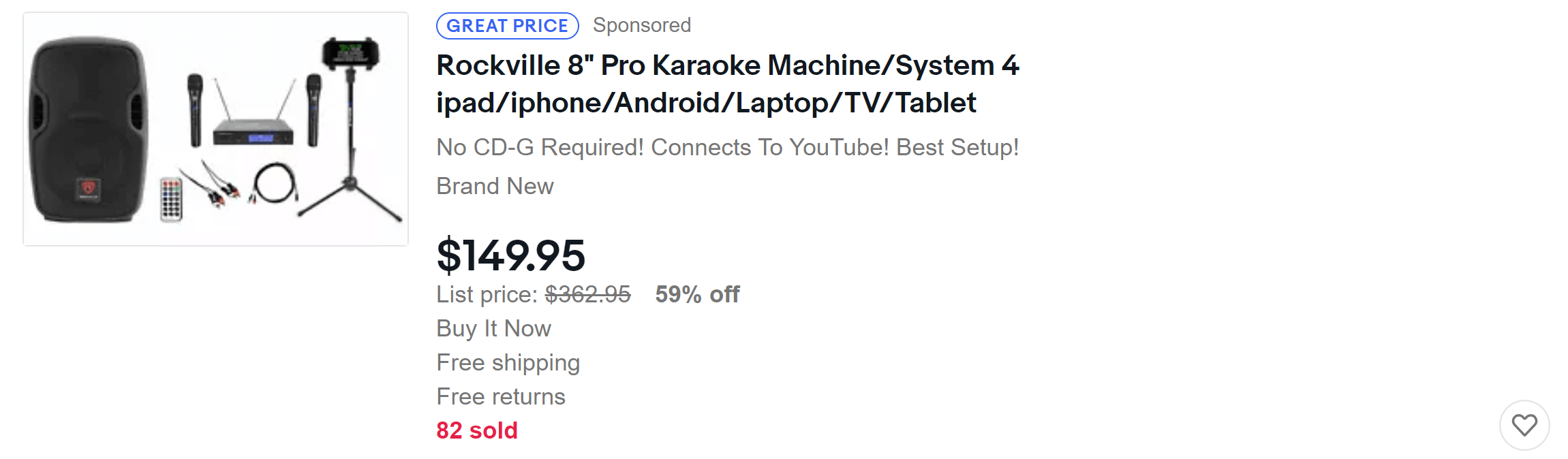 Great Price | Karaoke Machine