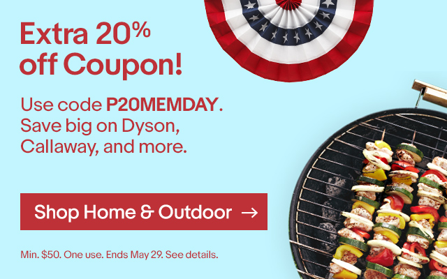 Extra 20% off Coupon! Use code P20MEMDAY on Dyson, Callaway, and more. Ends May 29. Minimum $50 purchase. Good for one use. SeeDetails.