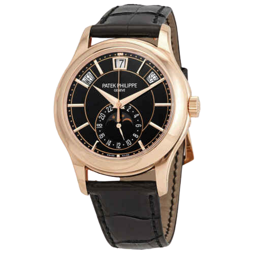A leather strap Patek Philippe watch with Gold accents