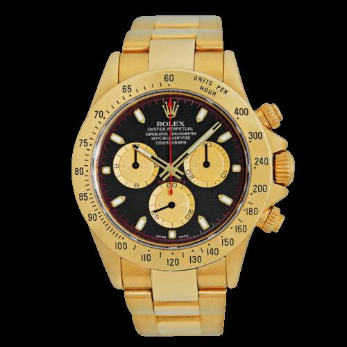 A silver Rolex watch.