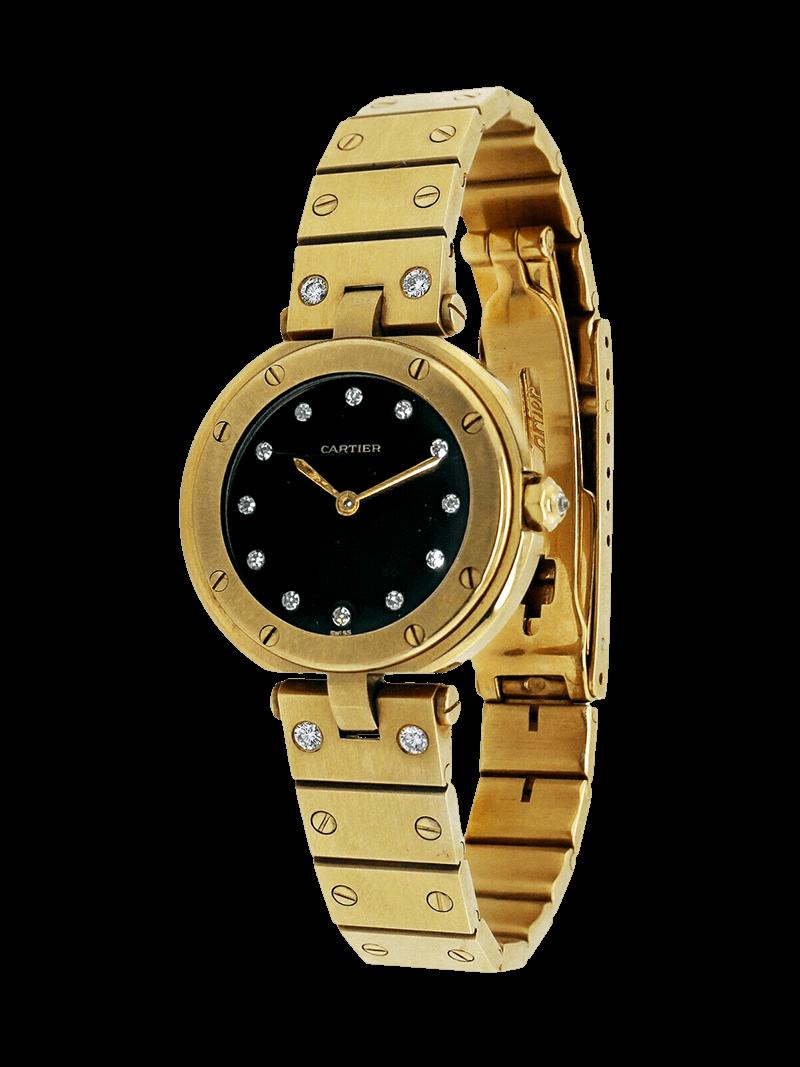 A Gold Cartier santos watches