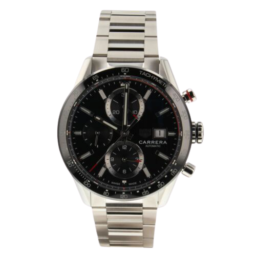 A steel Tag Heuer Carrera Heuer Watch.