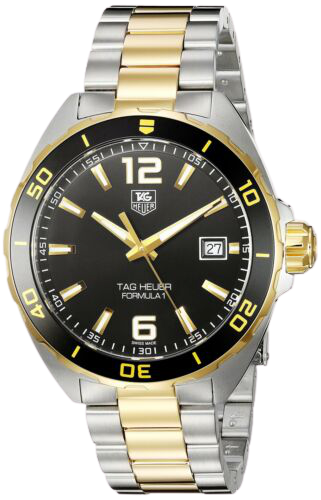 Black TAG Heuer Oyster Perpetual Explorer watch face with white markings