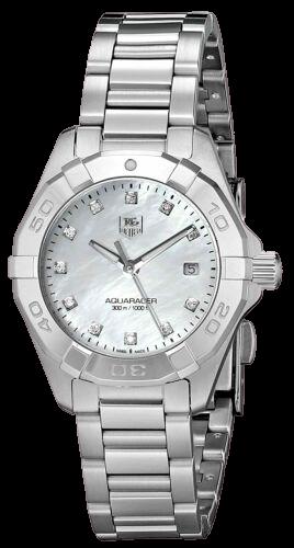A Tag Heuer Aquaracer Diamond Bezels.