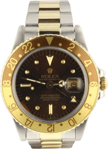 Third Generation: GMT-Master 1675x (1981 – 1988) with the black face and gold accents