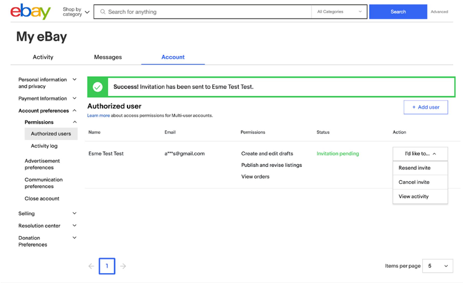 Access Permissions for Multi-user accounts