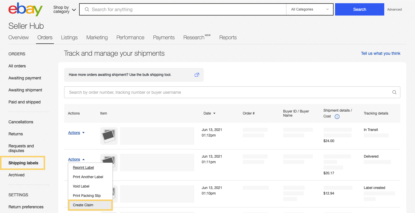Track and manage your shipments