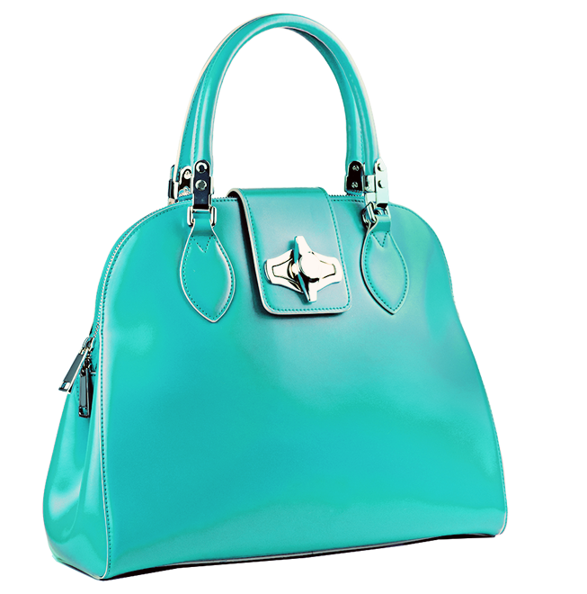 Picture of a teal purse
