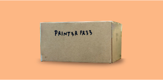 Package with Printer Free label
