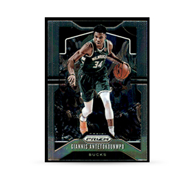 Basketball trading card of Giannis Antetokounmpo