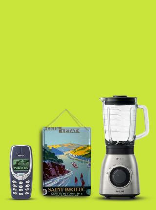 Nokia 3310, PHILIPS Viva Collection HR3556/00 Blender Mixeur de Cuisine, Plaque Émaillée Murale Aventurier expédition Bretagne Publicité