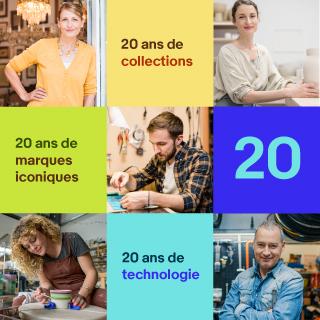 20 ans de collections, 20 ans de marques iconiques, 20 ans de technologie