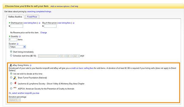 Ebay Giving Works Charity Listings On Ebay Help