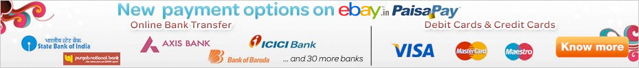 New payment options on eBay.in PaisaPay