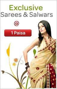 Exclusive Sarees & Salwars @ 1 Paisa
