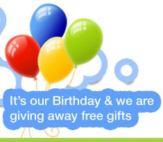 It's our Birthday & we are giving away free gifts