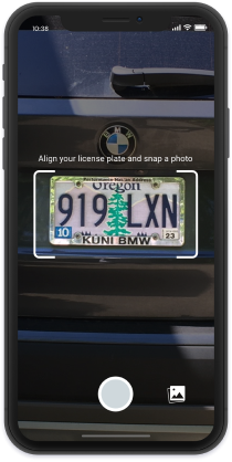 Image of License Plate and VIN Scanning