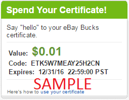 Earning and redeeming eBay Bucks