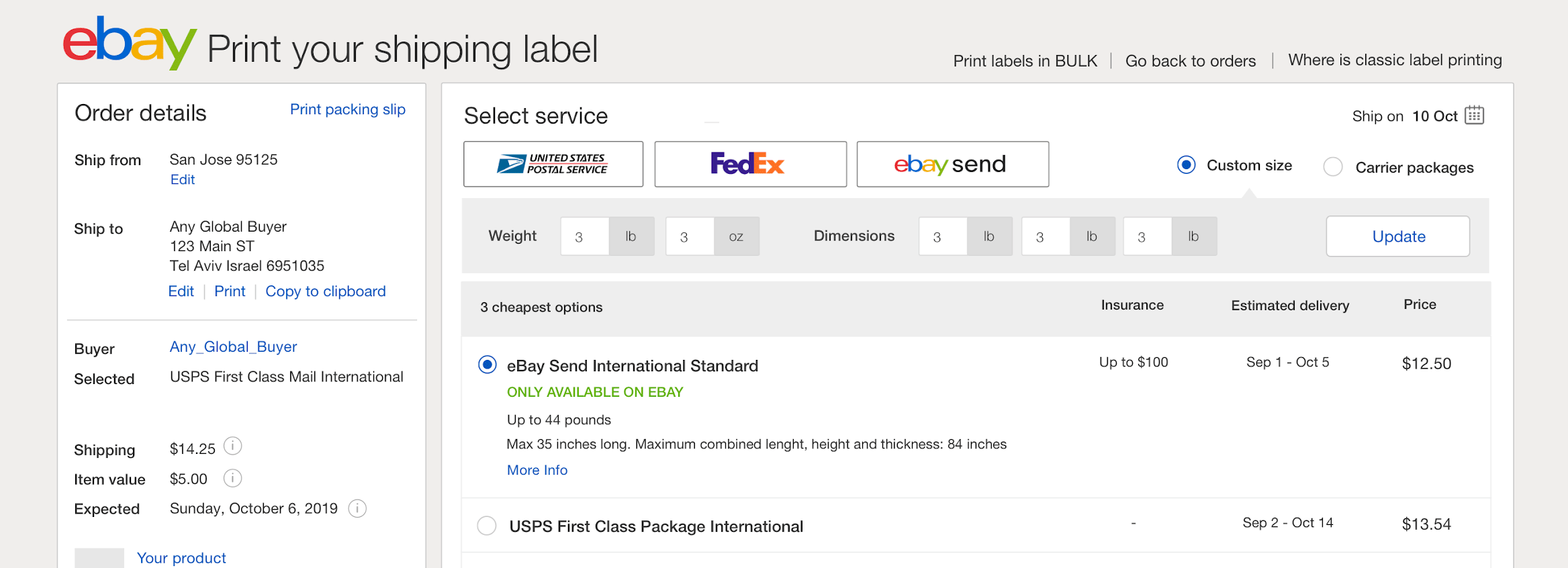 Print Your Shipping Label