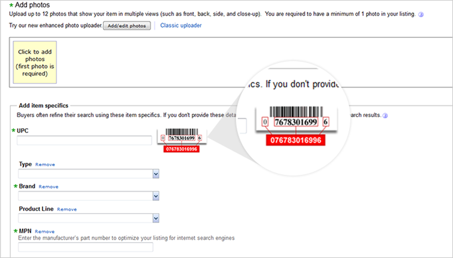Product Identifiers Ebay Seller Center