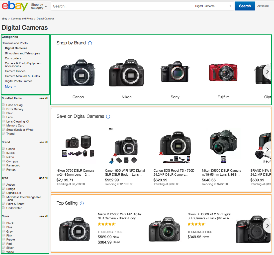 Image depicting listings eligible for Improved Search Visibility