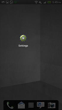 Step 1: Select 'Settings'