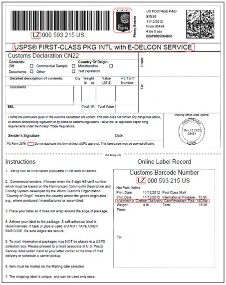 Ebay Packing Slip - Template
