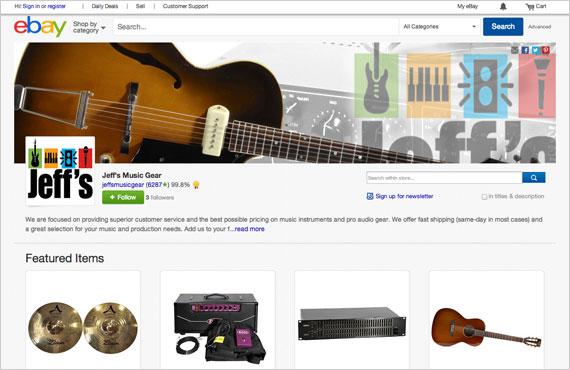 New eBay Stores