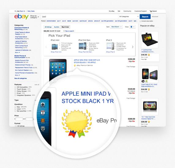 Ebay Co Uk Search: EBay UK : EBay Premium Service