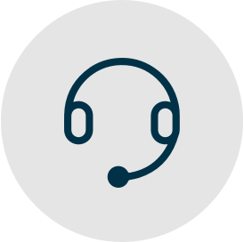 A teal headset icon.