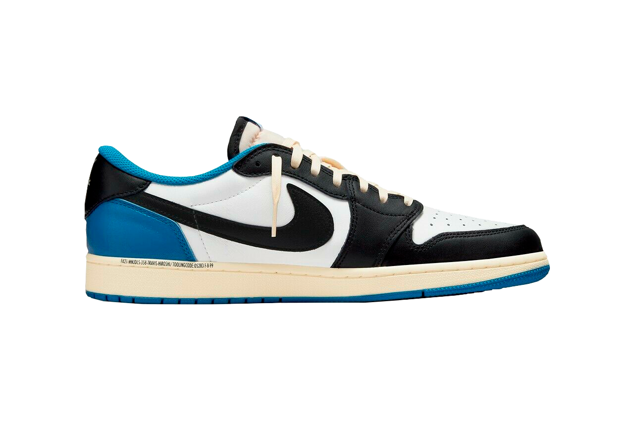 Image of Blue Nike sneaker