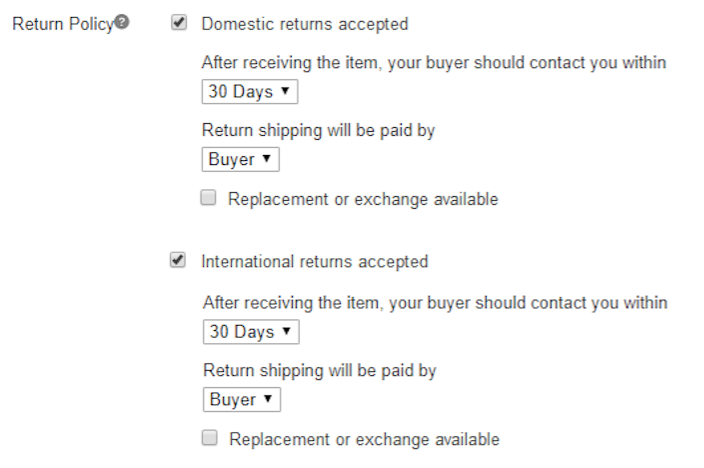 return policy options